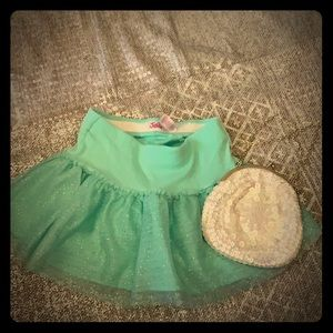 Skirt size 8 Justice and cute purse bundle Pre O